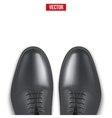 Background of Male fashion classic black shoes vector image vector image