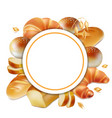 baker logo bread realistic label 3d vector image vector image
