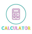 banking transaction calculator outline style icon vector image vector image