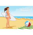 beach girl on vector image