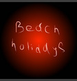 beach vacation on the red circle vector image