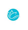 beauty lotus logo template vector image vector image