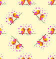 bird sparrow St Valentines Day Seamless pattern vector image