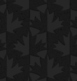 Black textured plastic maple leaves half and half vector image vector image