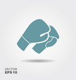 boxing gloves icon in flat style with shadow vector image