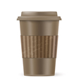 brown cup of coffee vector image vector image