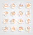 button shadows camera icons set vector image
