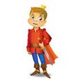 cartoon cute prince vector image