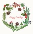 christmas hand drawn decoration vector image