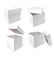 Collection of blank boxes vector image