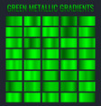 collection of green metallic gradient brilliant vector image vector image