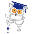 congratulations on your graduation greeting card vector image vector image