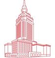Contour Building vector image vector image