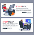 cybersport and gamers poster vector image vector image