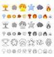 different explosions cartoon icons in set vector image vector image