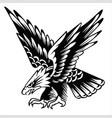 eagle drawing animal logo usa america vector image vector image