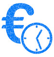 euro credit grunge icon vector image vector image