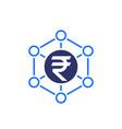 financial diversification indian rupee icon vector image vector image