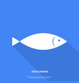 Fish Icon Flat design with shadow vector image vector image