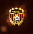 football soccer club logo design template vector image