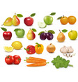 Fruits and vegetables set vector | Price: 1 Credit (USD $1)