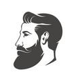 gentleman head with beard and mustache isolated