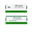 gift voucher template vector image