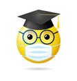 graduates 2020 social distance vector image vector image