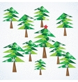 Green Christmas fir trees background vector image