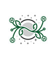 green plant outline logo vector image vector image