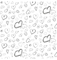 Heart ink imitation black seamless pattern vector image