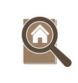 house real estate icon magnifying glass vector image
