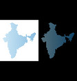 india map honeycomb abstraction vector image