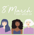 international womens day sign with women vector image vector image