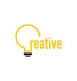 lightbulb graphic design template isolated vector image vector image