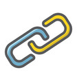 link building filled outline icon seo vector image
