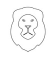 lion head the black color icon vector image