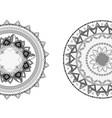 mandala art design vector image