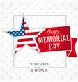 memorial day remember honor star light banner vector image vector image
