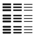 menu icon shape button set vector image