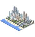 metropolis isometric vector image vector image