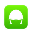 military helmet icon digital green vector image vector image