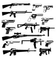 military set automatic guns pistols and other vector image