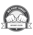 Mix fight combat emblem - clenched fists vector image vector image