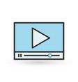 modern flat video player interface isolated on vector image