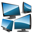 monitors set vector image