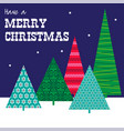 patterned trees christmas graphic vector image vector image