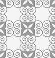 Perforated swirly grid with four foils vector image vector image