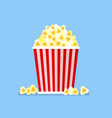 popcorn snack in flat style vector image vector image