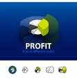profit icon in different style vector image